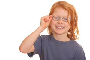 child having vision tested at valuvision jax eye doctors